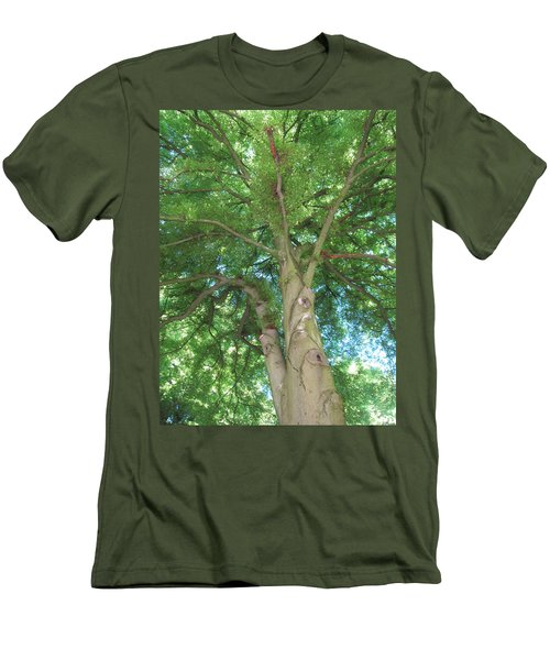 Men's T-Shirt (Slim Fit) featuring the photograph Towering Tree by Pema Hou