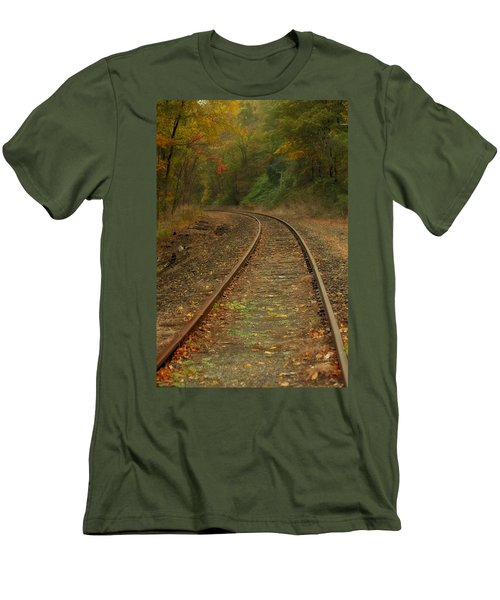 Tracking Thru The Woods Men's T-Shirt (Slim Fit) by Karol Livote