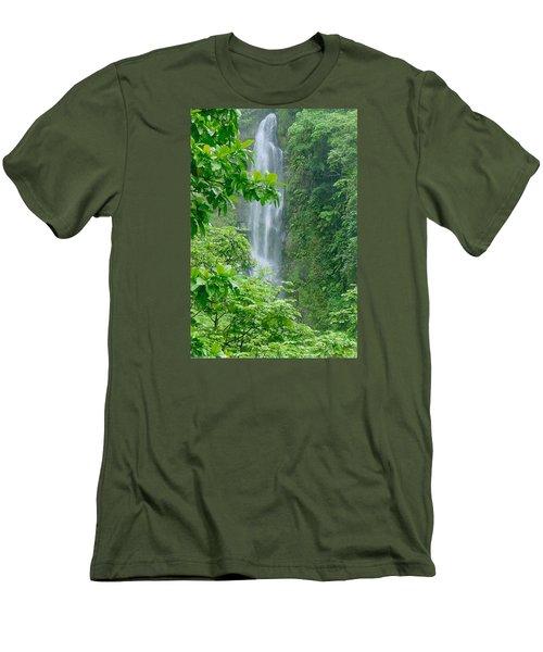 Trafalger Falls Men's T-Shirt (Slim Fit) by Robert Nickologianis