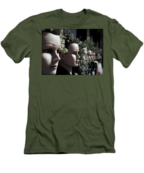 Men's T-Shirt (Slim Fit) featuring the photograph Transplants by Micki Findlay