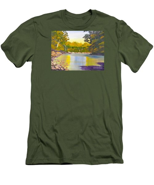 Tree Lined River Men's T-Shirt (Athletic Fit)