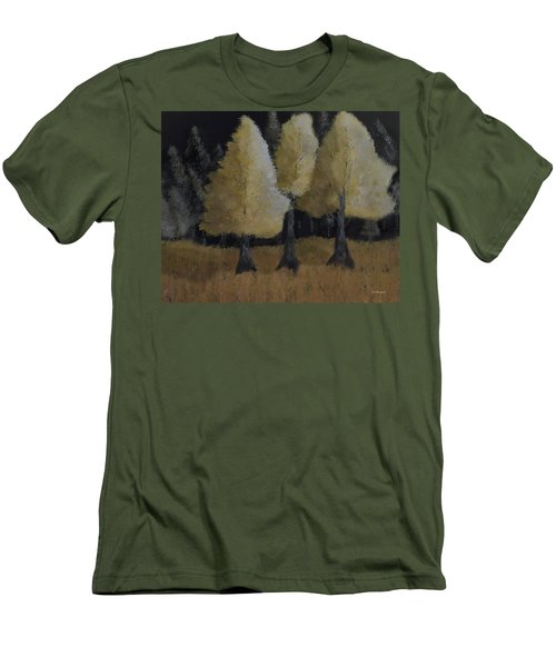 Tree Trio Men's T-Shirt (Slim Fit) by Dick Bourgault