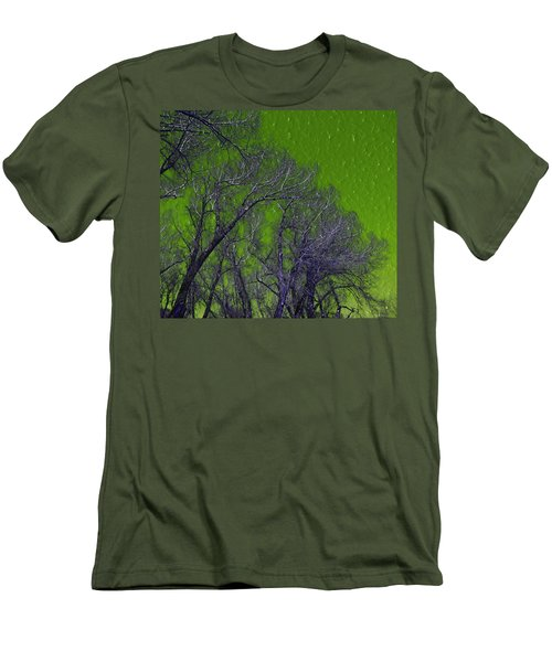 Trees On Green Sky Men's T-Shirt (Athletic Fit)