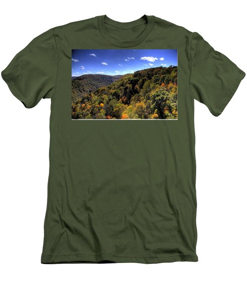 Trees Over Rolling Hills Men's T-Shirt (Athletic Fit)