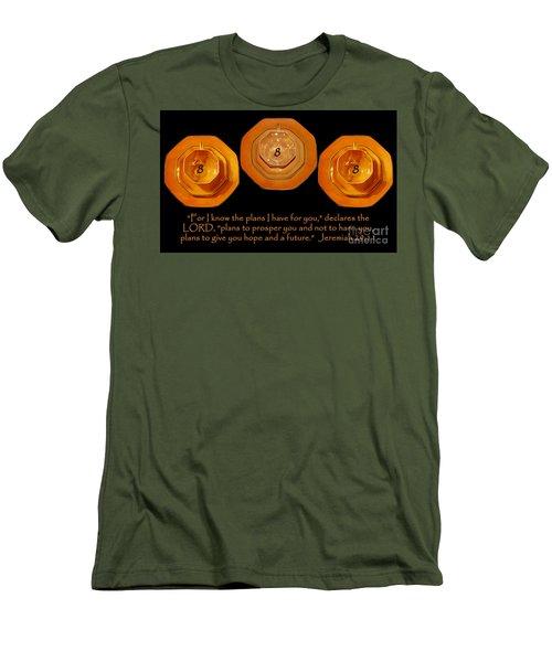 Triple Eight Octagon Saucers With Jeremiah Twenty Nine Eleven On Black Men's T-Shirt (Slim Fit) by Heather Kirk