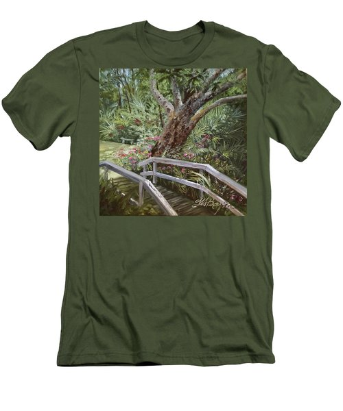 Tropical Garden Men's T-Shirt (Athletic Fit)