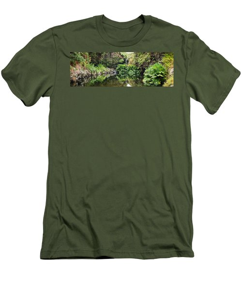 Tropical Reflections Men's T-Shirt (Slim Fit) by Denise Bird
