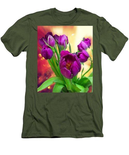 Tulips Men's T-Shirt (Slim Fit) by Carlos Avila