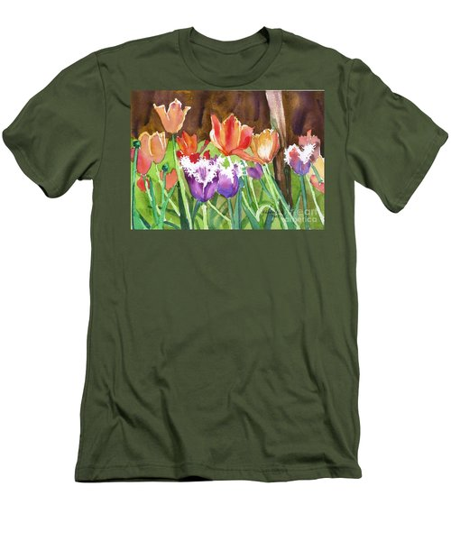 Tulips In Spring Men's T-Shirt (Athletic Fit)