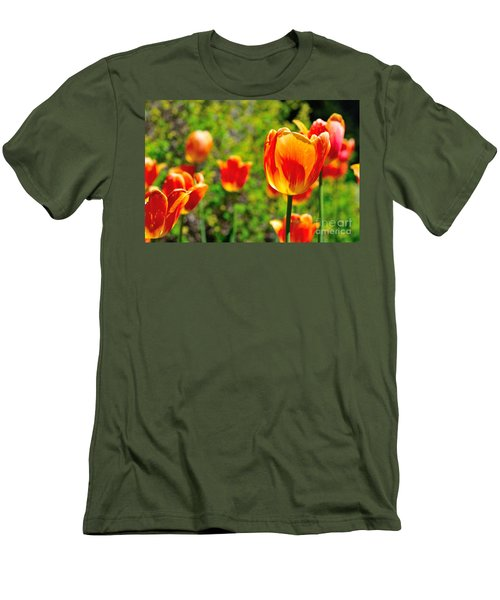 Men's T-Shirt (Slim Fit) featuring the photograph Tulips by Joe  Ng