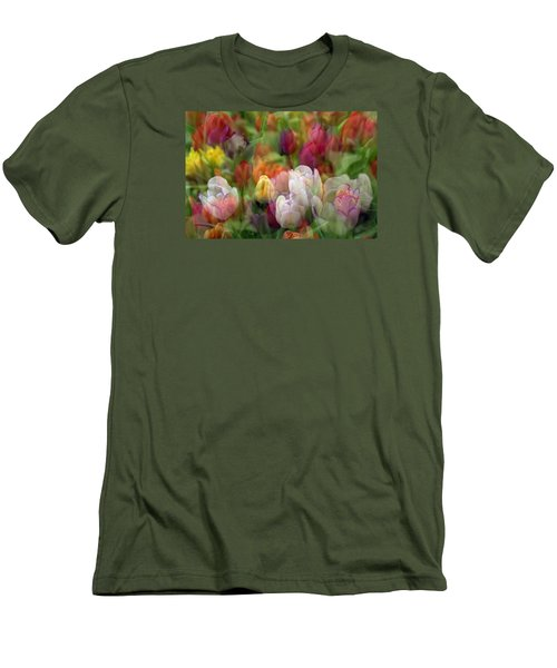 Tulips Men's T-Shirt (Slim Fit) by Penny Lisowski
