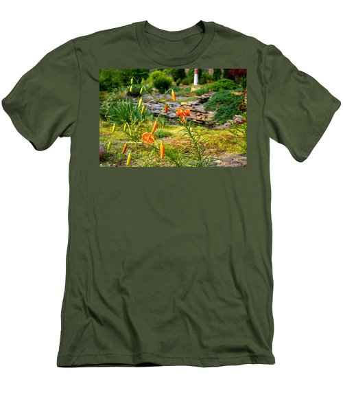 Men's T-Shirt (Slim Fit) featuring the photograph Turk's Cap Lily by Kathryn Meyer