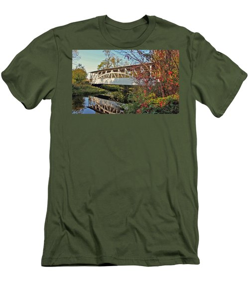 Men's T-Shirt (Slim Fit) featuring the photograph Turner's Covered Bridge by Suzanne Stout