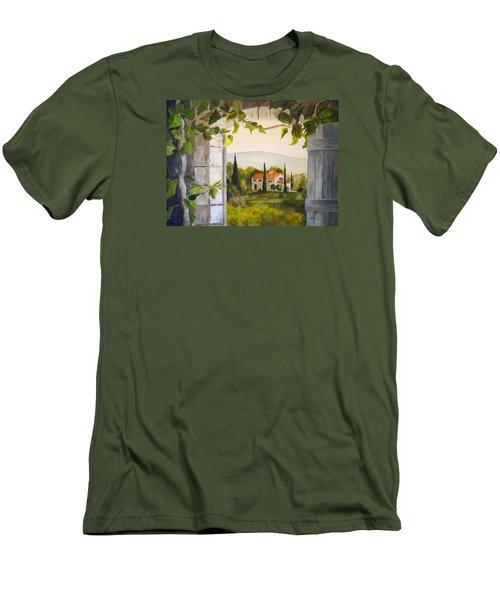 Tuscan View Men's T-Shirt (Slim Fit) by Alan Lakin