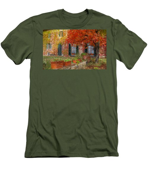 Tuscan Villa In Autumn Men's T-Shirt (Athletic Fit)