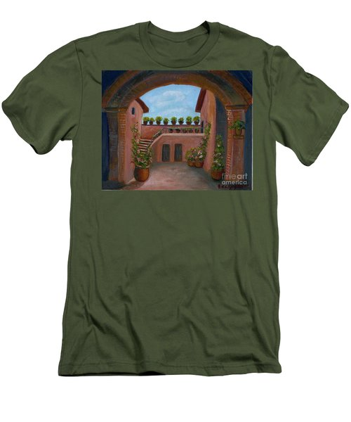 Tuscany Arch Men's T-Shirt (Slim Fit) by Becky Lupe