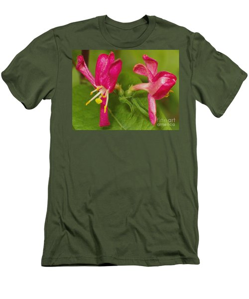 Men's T-Shirt (Slim Fit) featuring the photograph Twins by Sara  Raber