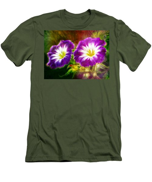 Two Eyes Of Heaven Men's T-Shirt (Slim Fit) by Lilia D