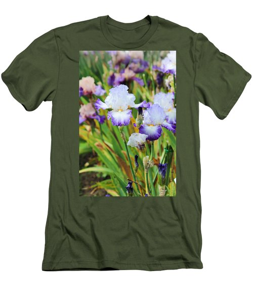 Men's T-Shirt (Slim Fit) featuring the photograph Two Iris by Patricia Babbitt