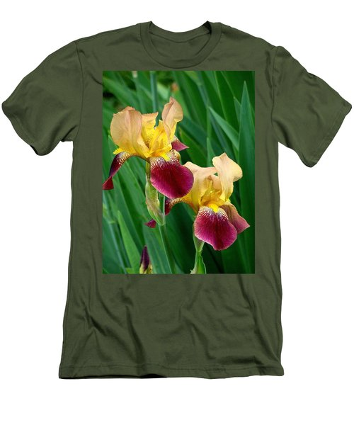 Two Iris Men's T-Shirt (Slim Fit) by Rodney Lee Williams