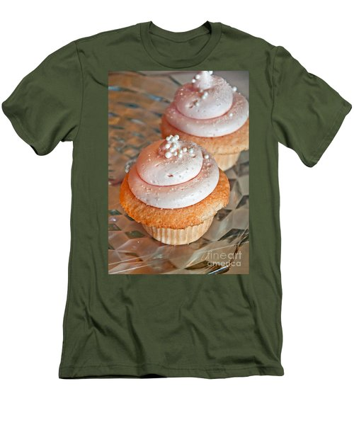 Two Pink Cupcakes Art Prints Men's T-Shirt (Athletic Fit)