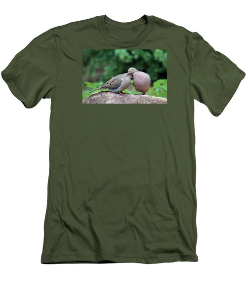 Two Turtle Doves Men's T-Shirt (Slim Fit) by Cynthia Guinn