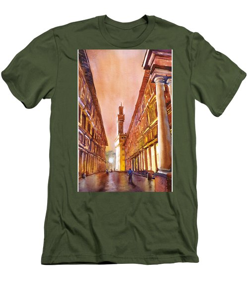Uffizi- Florence Men's T-Shirt (Athletic Fit)