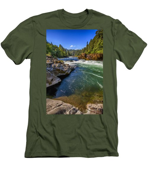 Men's T-Shirt (Slim Fit) featuring the photograph Umpqua River by David Millenheft