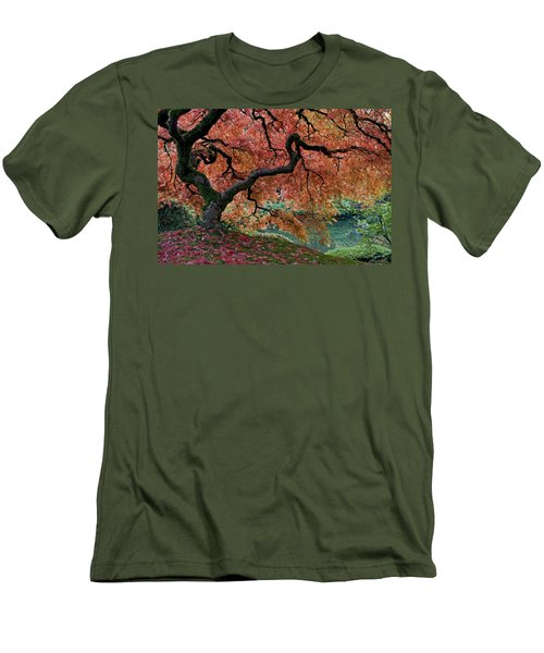 Under Fall's Cover Men's T-Shirt (Slim Fit) by Wes and Dotty Weber