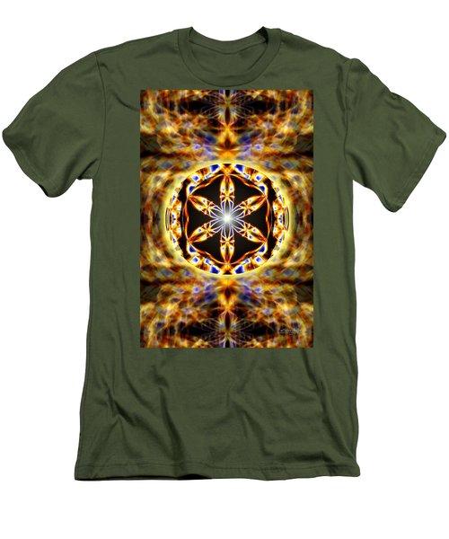 Universal Heart Fire Men's T-Shirt (Slim Fit) by Derek Gedney