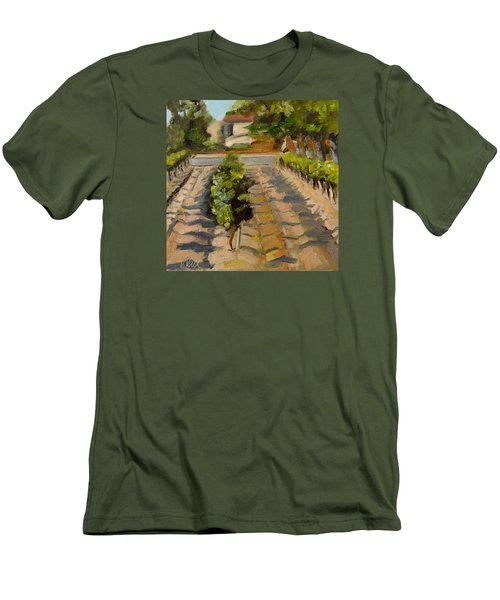 Men's T-Shirt (Slim Fit) featuring the painting Unparalleled Richness by Pattie Wall