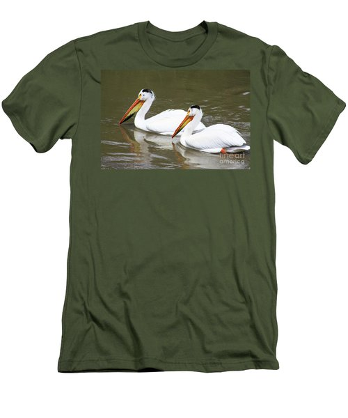 Men's T-Shirt (Slim Fit) featuring the photograph Up The Oldman by Alyce Taylor