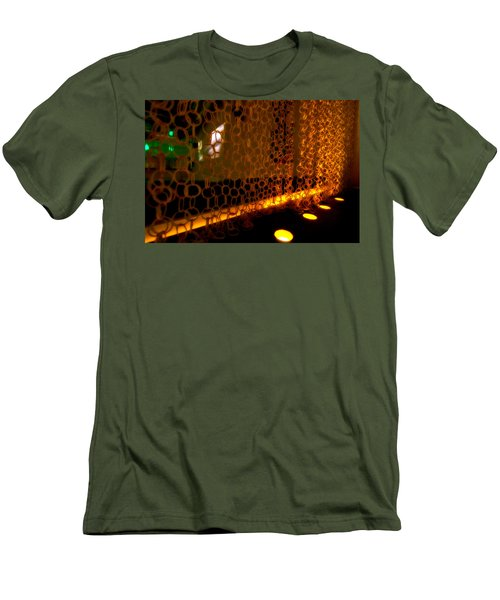 Uplight The Chains Men's T-Shirt (Slim Fit) by Melinda Ledsome