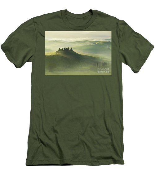 Val D'orcia Men's T-Shirt (Slim Fit) by Jaroslaw Blaminsky