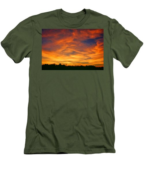 Men's T-Shirt (Slim Fit) featuring the photograph Valentine Sunset by Tammy Espino