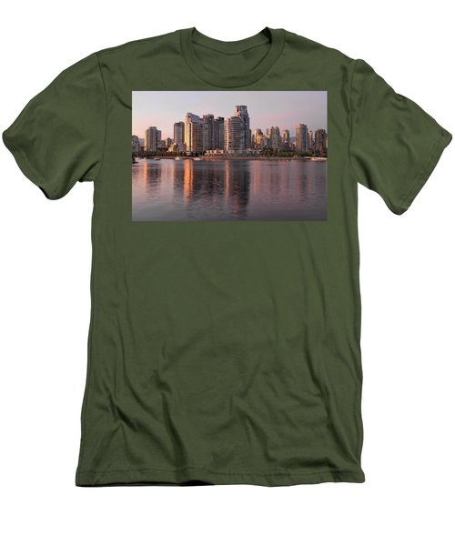 Men's T-Shirt (Slim Fit) featuring the photograph Vancouver Bc Waterfront Condominiums by JPLDesigns