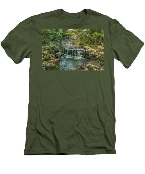Men's T-Shirt (Slim Fit) featuring the photograph Vaughan Woods Stream by Jane Luxton