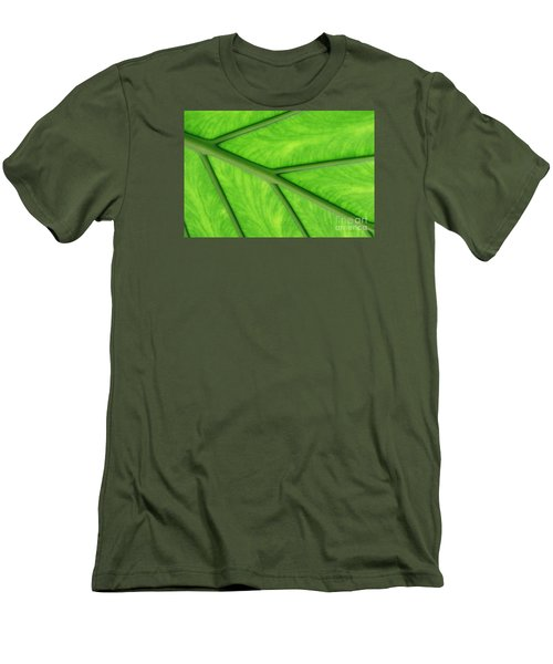 Men's T-Shirt (Slim Fit) featuring the photograph Veins Of Life by Judy Whitton