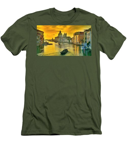 Golden Venice 3 Hdr - Italy Men's T-Shirt (Slim Fit) by Maciek Froncisz