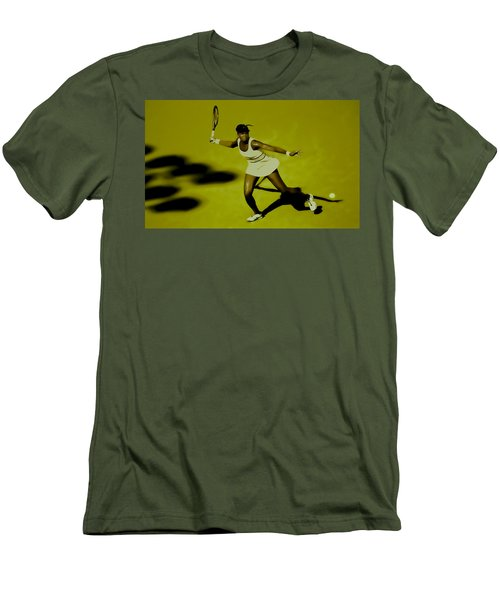 Venus Williams In Action Men's T-Shirt (Slim Fit) by Brian Reaves