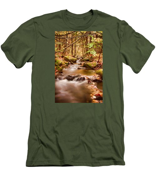 Men's T-Shirt (Slim Fit) featuring the photograph Vermont Stream by Jeff Folger