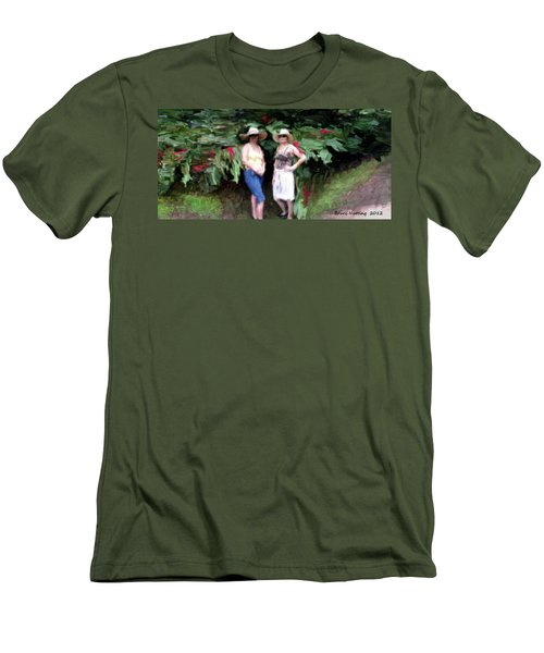 Men's T-Shirt (Slim Fit) featuring the painting Victoria And Friend by Bruce Nutting