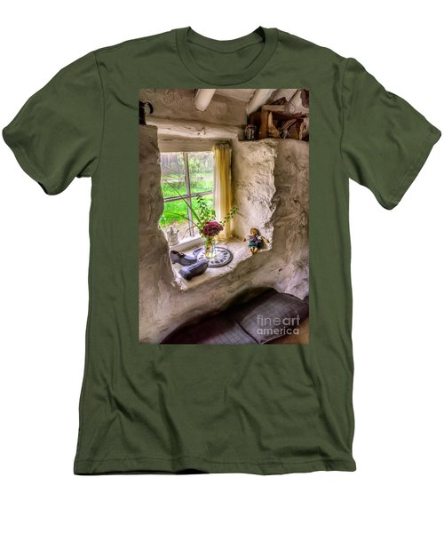 Victorian Window Men's T-Shirt (Slim Fit) by Adrian Evans