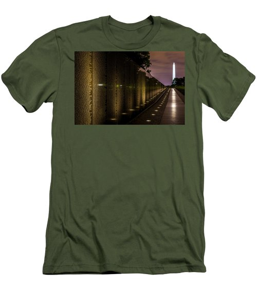 Vietnam Veterans Memorial Men's T-Shirt (Slim Fit) by David Morefield