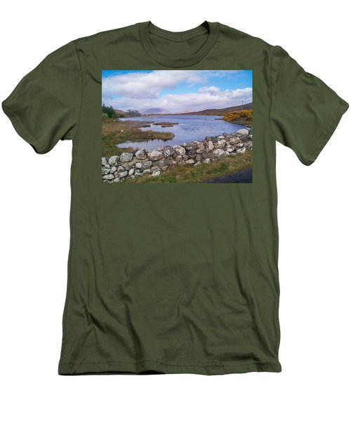 Men's T-Shirt (Slim Fit) featuring the photograph View From Quiet Man Bridge Oughterard Ireland by Charles Kraus