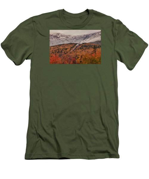 View Of Autumn Foliage From The Mount Washington Cog Railway Train Men's T-Shirt (Athletic Fit)