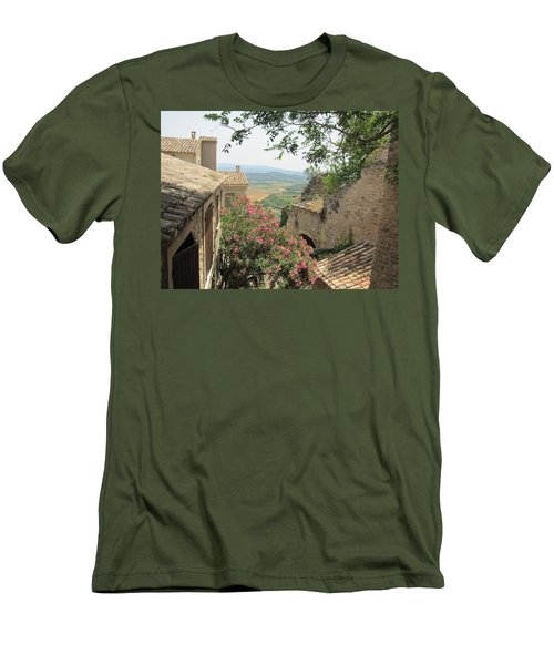 Men's T-Shirt (Slim Fit) featuring the photograph Village Vista by Pema Hou