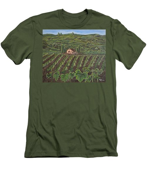 Vineyard In Neuchatel Men's T-Shirt (Athletic Fit)
