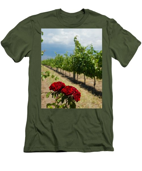 Vineyard Rose Men's T-Shirt (Athletic Fit)