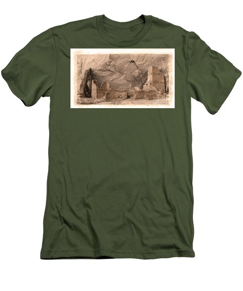 Men's T-Shirt (Slim Fit) featuring the photograph Vintage Canyon De Chelly by Jerry Fornarotto